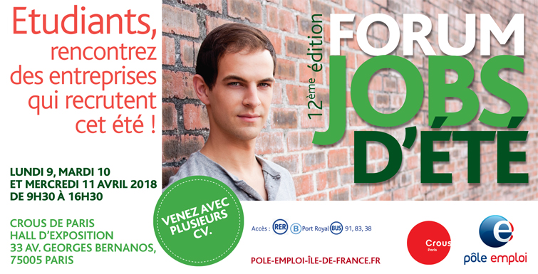 job etudiant paris ete