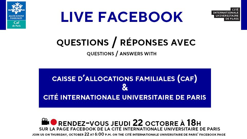affiche facebook live caf ciup