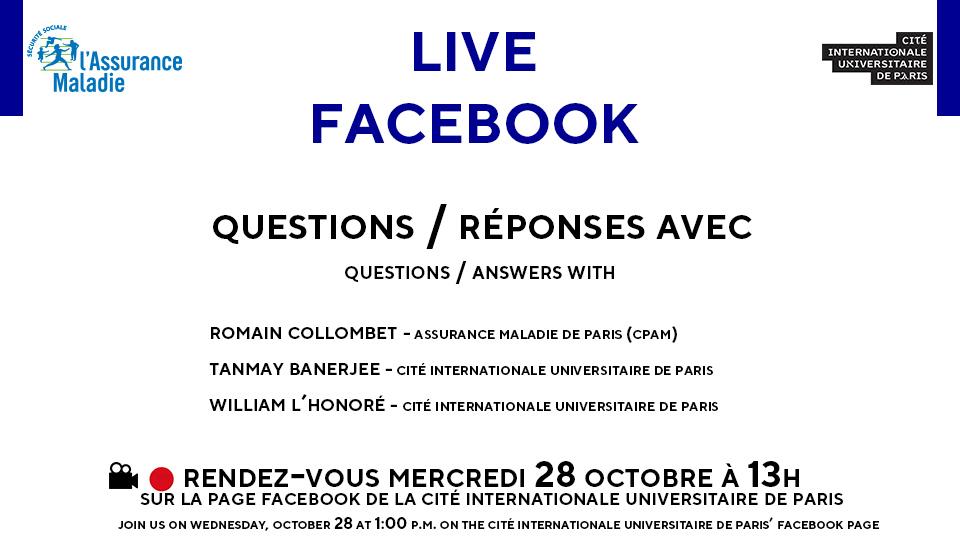 affiche facebook live cpam ciup