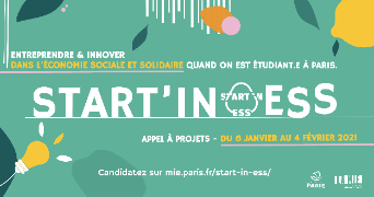 affiche appel à projet Start in ESS