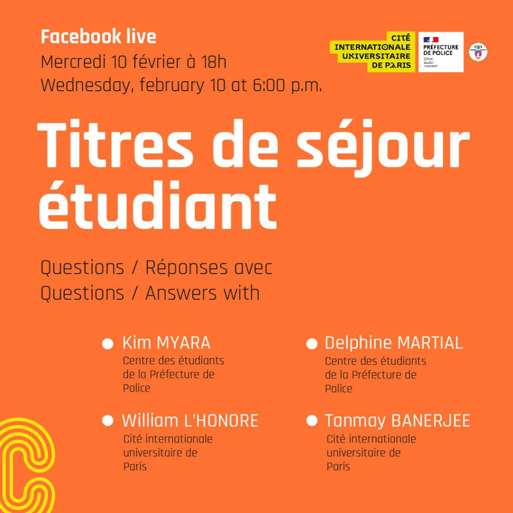 Facebook life information participants Cité et Préfecture de police de Paris