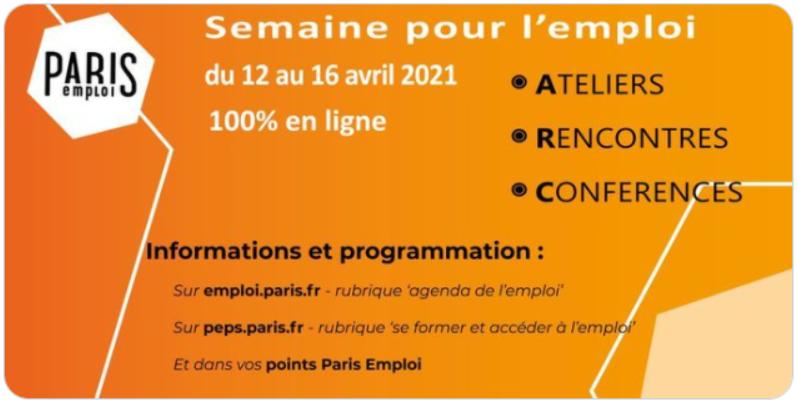 affiche semaine pour l'emploi Paris